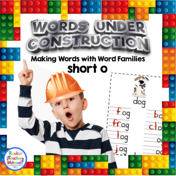 Words Under Construction-Make Word Family Words-Short o-FREEBIE