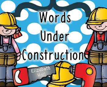 Words Under Construction {editable options included}
