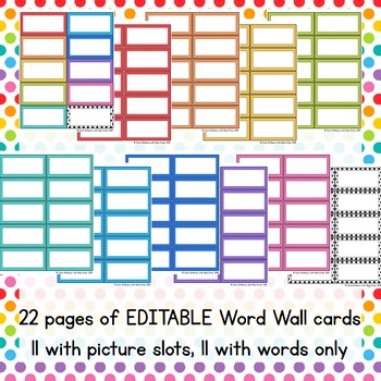 Words We Learn Word Wall Kit