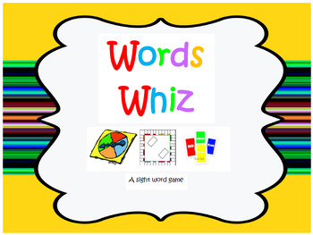 Words Whiz Sight Word Game