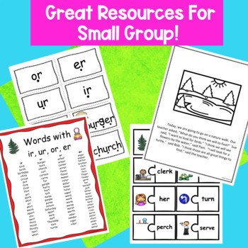 Words With ir, ur, er, and or Hands-On Phonics Activities