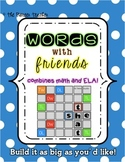 """""""Words With Friends"""" Bulletin Board Game {Literacy Center}"""