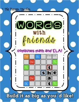 """Words With Friends"" Bulletin Board Game {Literacy Center}"