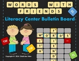 Words With Friends Literacy Center Bulletin Board (Grades 2-6)