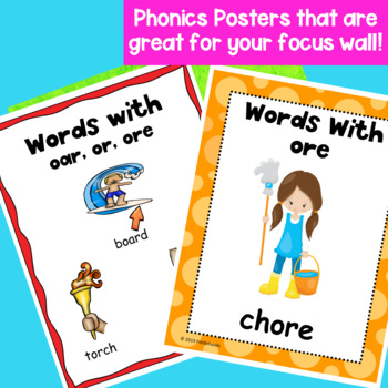 Words With or, oar, and ore Hands-On Phonics Activities