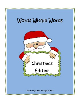 Words Within Words Christmas/Winter  Word Activity FREE