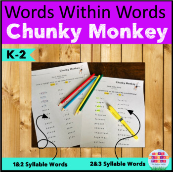 Words Within Words - Chunky Monkey by Mrs Isaacson | TpT