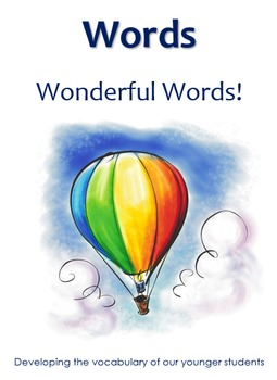Words Wonderful Words -  Flashcards and Categorisation