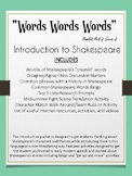 Words Words Words: Introduction Packet for Shakespeare
