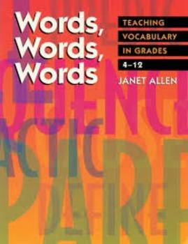 Words, Words, Words by Janet Allen