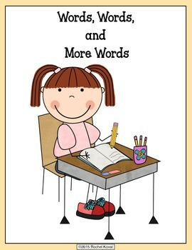 Words, Words and More Words (student dictionary)