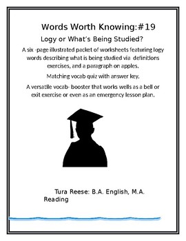 Words Worth Knowing #19: Logy or What's Being Studied?