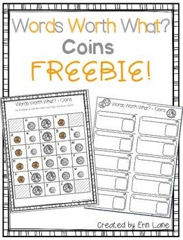 Words Worth What? COINS - Freebie!