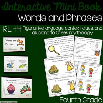 Words and Phrases Interactive Mini Book {RL.4.4}