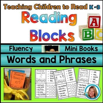 Sight Word Fluency Phrase MINI BOOKS Kindergarten - 3rd