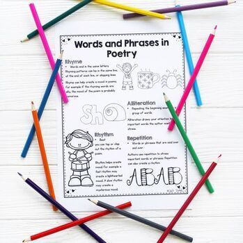 Words and Phrases in Poetry- 2nd Grade RL.2.4