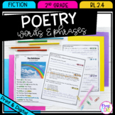 Poetry Words and Phrases - 2nd Grade RL.2.4 - Printable & Digital RL2.4