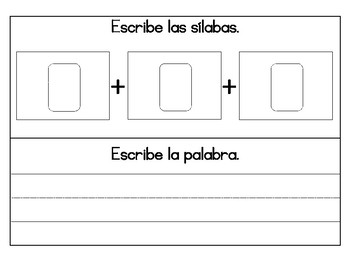 Words and Syllable Mat/ Silabas y Palabras