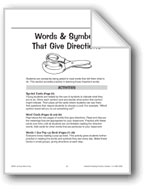 Words and Symbols That Give Directions