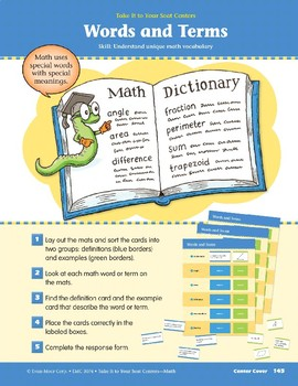Words and Terms (Take It to Your Seat Centers Common Core Math)