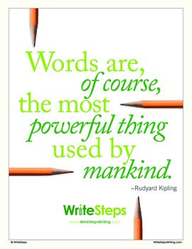 Words are the Most Powerful Classroom Poster