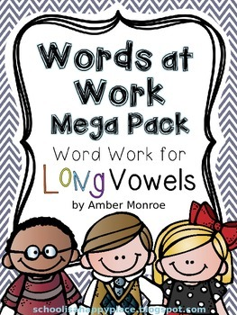Words at Work Mega Pack {Word Work for Long Vowels}