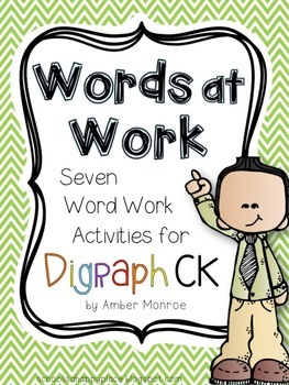 Words at Work {Seven Word Work Activities for Digraph CK}