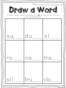 Words At Work Seven Word Work Activities For Digraph Ck