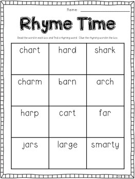 Words at Work {Seven Word Work Activities for R Controlled Vowel -AR}
