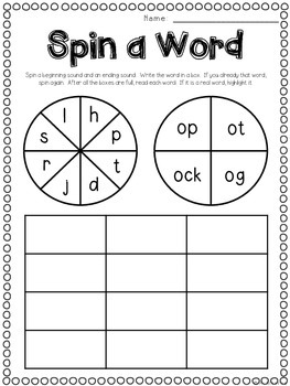 Words at Work {Seven Word Work Activities for Short O}