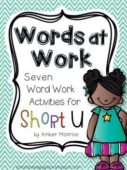 Words at Work {Seven Word Work Activities for Short U}