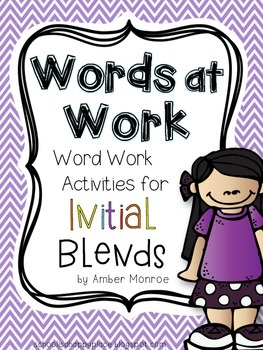 Words at Work {Word Work Activities for Initial Blends}