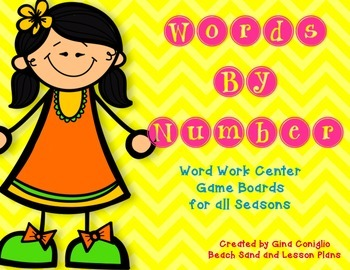 Words by Number: Game Boards for Word Work