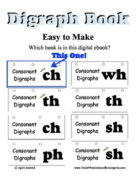 Words ending in CH Flip book - Reading Literacy Center - Spelling - Digraph