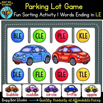 Words ending in LE Parking Lot Game