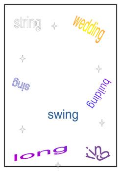 Words ending in -ng worksheet