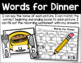Words for Dinner - Initial and Final Sound Identification