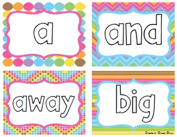 Words for Ellie {FREE Pre Primer Sight Word Cards & Word Family Posters}