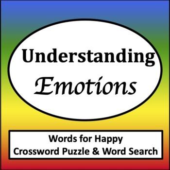 Words for Happy Word Search & Crossword [Zones of Self Regulation Activities]
