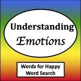 Words for Happy Word Search [Zones of Self Regulation Activities]