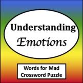 Words for Mad Crossword Puzzle [Zones of Self Regulation Activities]