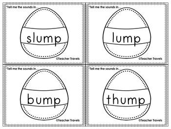 Words for Phoneme Segmentation Easter Theme