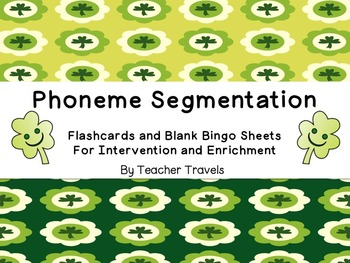 Words for Phoneme Segmentation St. Patrick's Day Theme