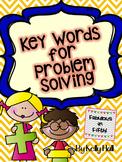Key Words for Problem Solving
