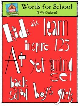 Words for School-Colours Galore {P4 Clips Trioriginals Digital Clip Art}