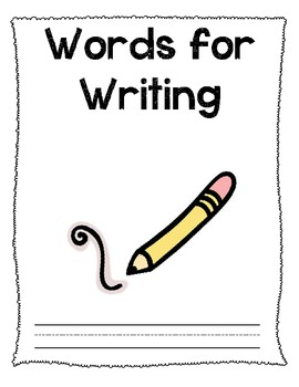 Words for Writing Journal