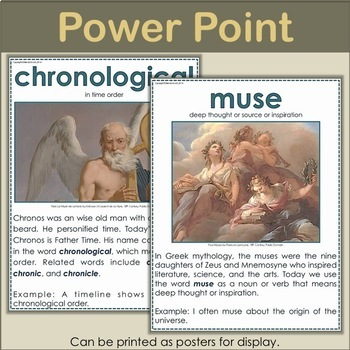 Words from Mythology Posters - 40 Allusions to Greek Mythology