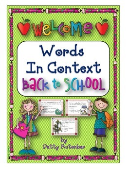 Words in Context - Back to School