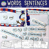 Winter Word and Sentence Lesson!