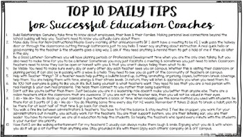 Words of Advice for Education Coaches